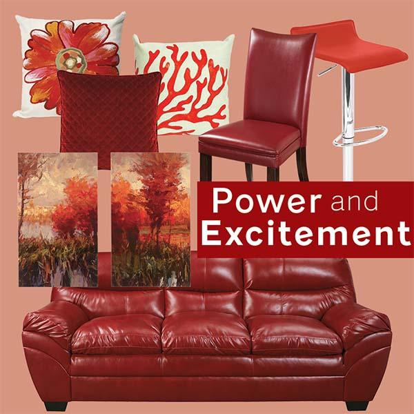 Nội thất màu đỏ mang đến quyền lực và sự hứng thú