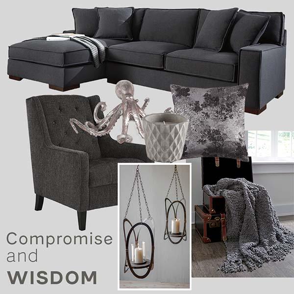 Tinh tế và sang trọng với nội thất màu xám