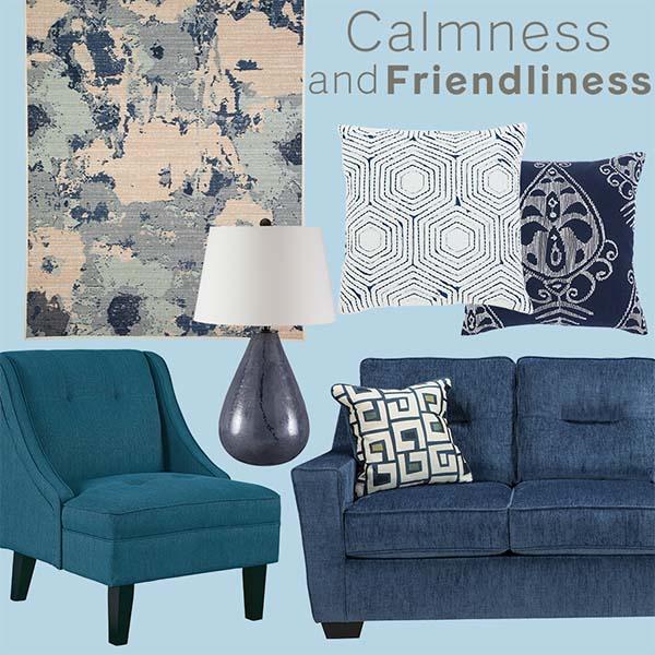 Mát mẻ và thanh nhã chiếc ghế sofa màu xanh dương này mang đên cảm giác thư giãn