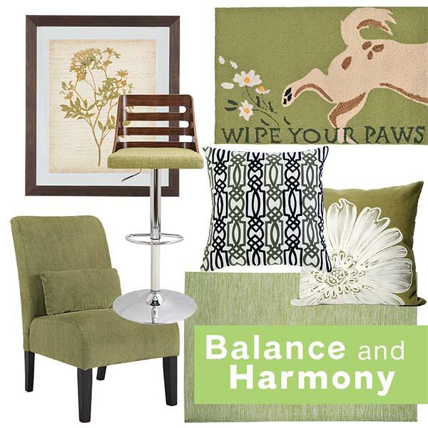 Nội thất màu xanh lá mang đến cảm giác hài hòa và năng lượng tích cực cho mọi căn phòng