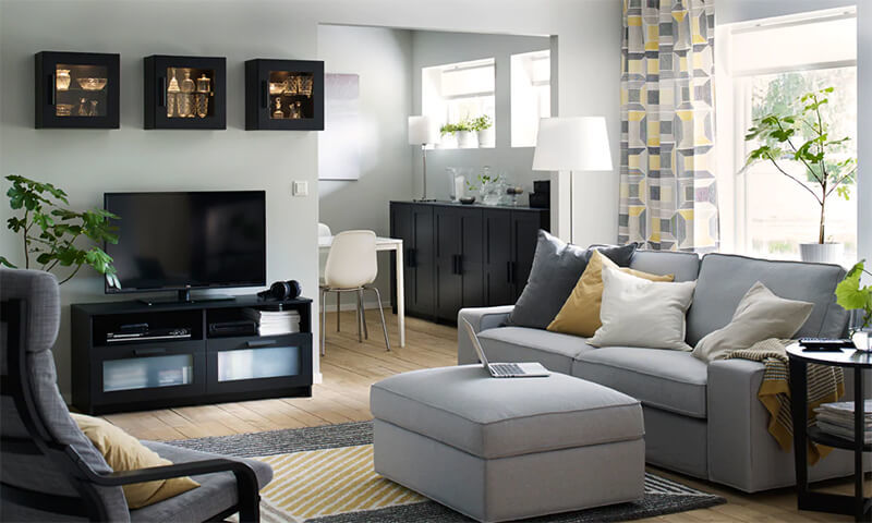 mẫu phòng khách hiện đại 12