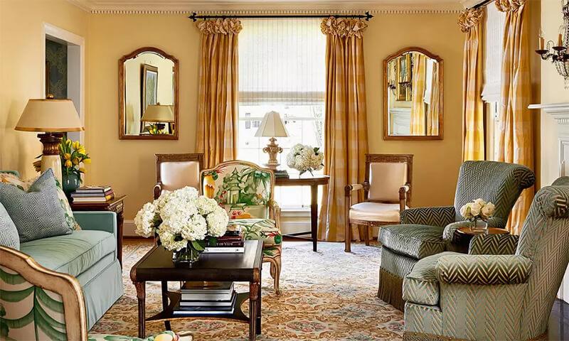 Mẫu phòng khách cổ điển 7