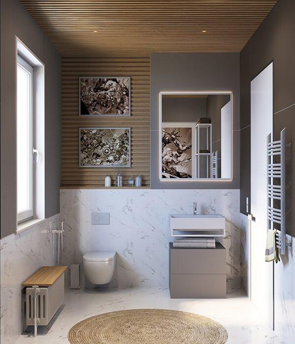 30+ Mẫu nhà vệ sinh đẹp hiện đại, đơn giản dành cho nhà phố 13