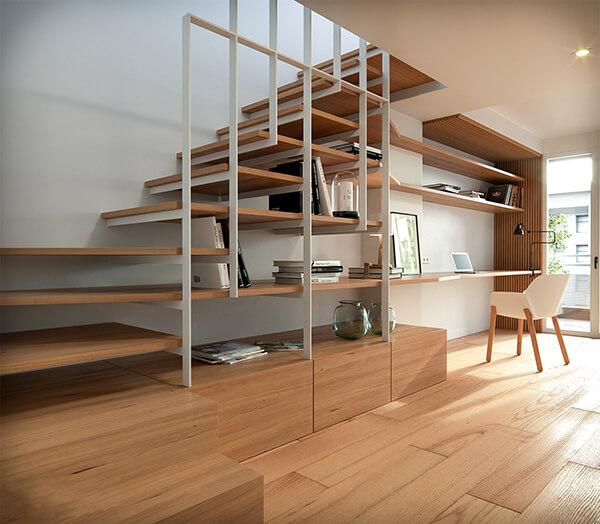 cầu thang căn hộ nhỏ