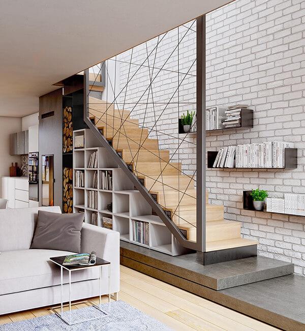 cầu thang mở hiện đại