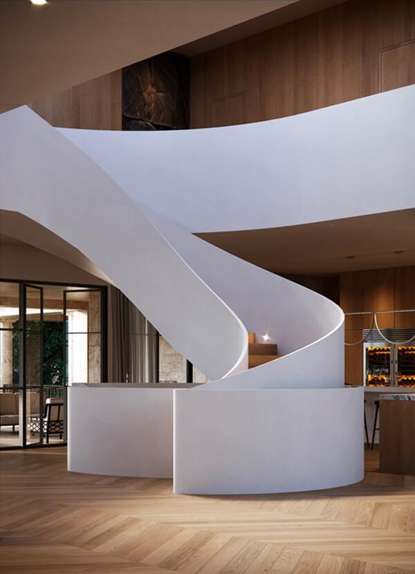 cầu thang trắng 2