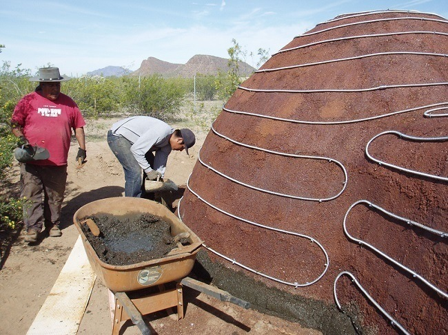 Kiến trúc vòm chủ yếu từ bụi thép
