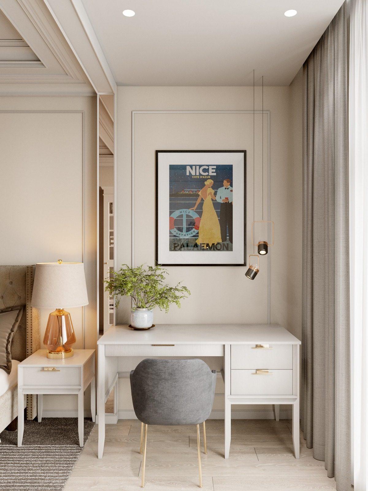 Nội thất căn hộ 70m2 tuyệt đẹp với thiết kế bán cổ điển 10