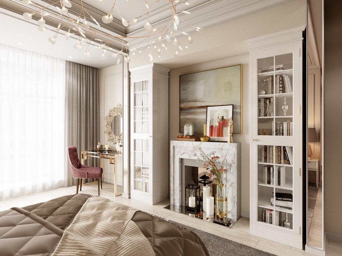 Nội thất căn hộ 70m2 tuyệt đẹp với thiết kế bán cổ điển 11