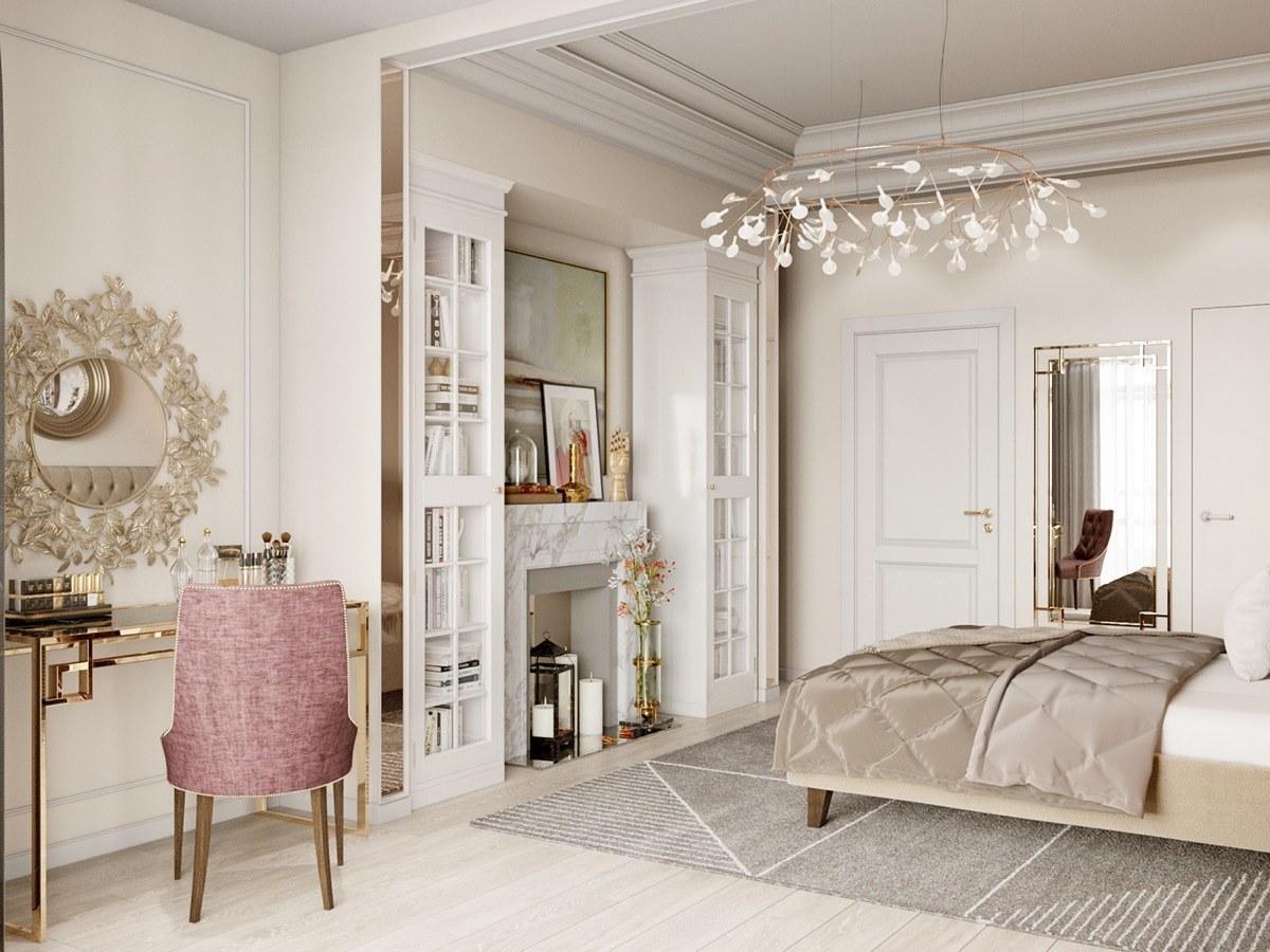 Nội thất căn hộ 70m2 tuyệt đẹp với thiết kế bán cổ điển 12