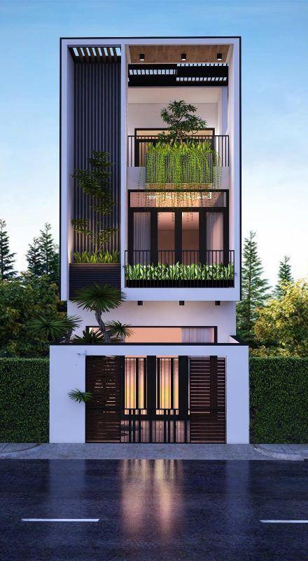 25 Ý tưởng thiết kế nhà phố 3 tầng đẹp khiến bạn nao lòng 6