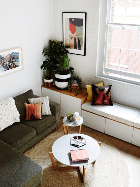bố trí đồ nội thất trong phòng khách nhỏ