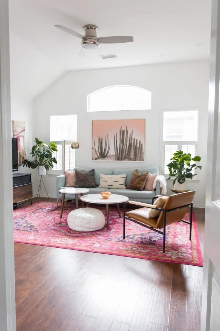 sử dụng thảm làm điểm nhấn