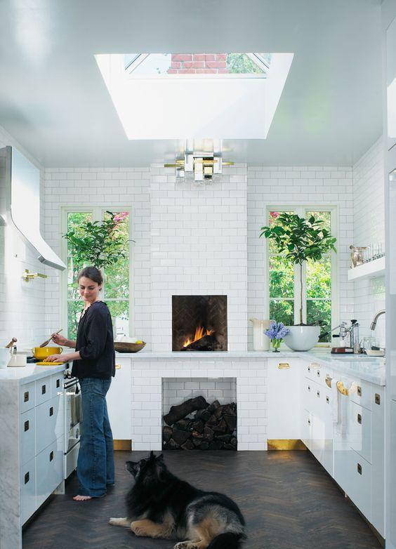 Thiết kế giếng trời trong bếp