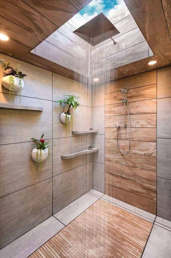 Phòng tắm với thiết kế giếng trời cực đẹp