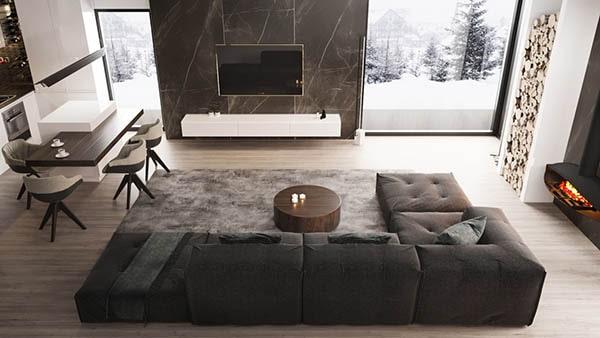 Combo phòng khách kết hợp phòng ăn (Hình ảnh và mẹo thiết kế) 9