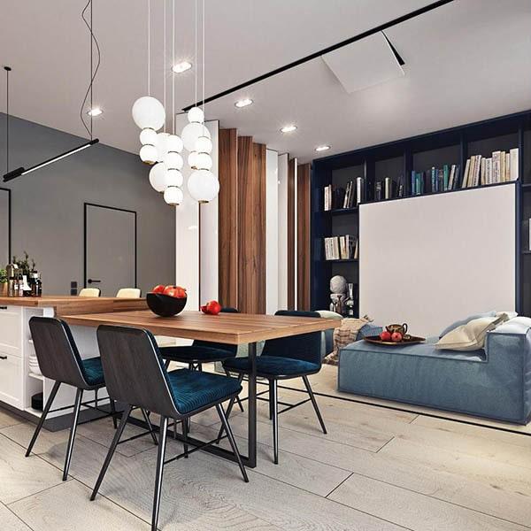 Combo phòng khách kết hợp phòng ăn (Hình ảnh và mẹo thiết kế) 10