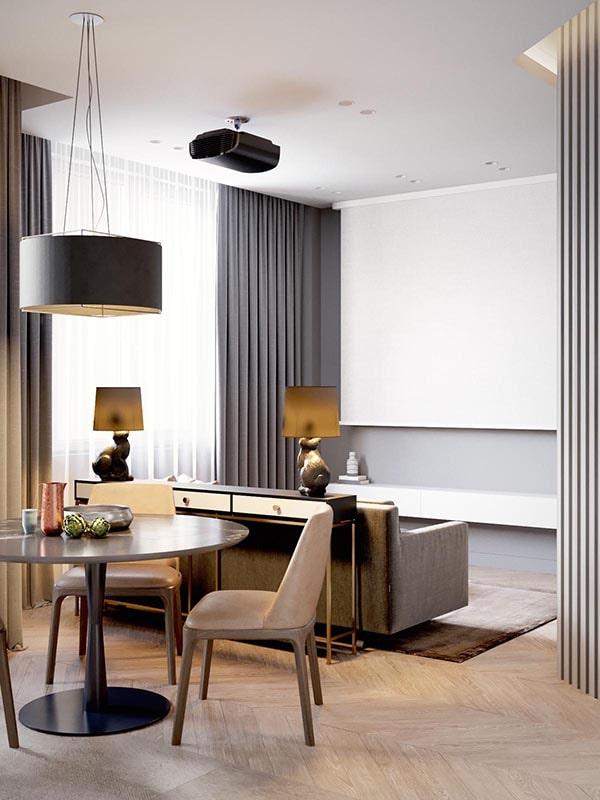 Combo phòng khách kết hợp phòng ăn (Hình ảnh và mẹo thiết kế) 12