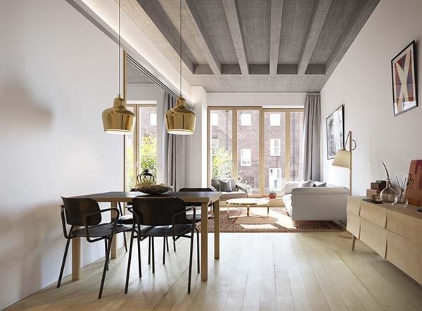 Combo phòng khách kết hợp phòng ăn (Hình ảnh và mẹo thiết kế) 17