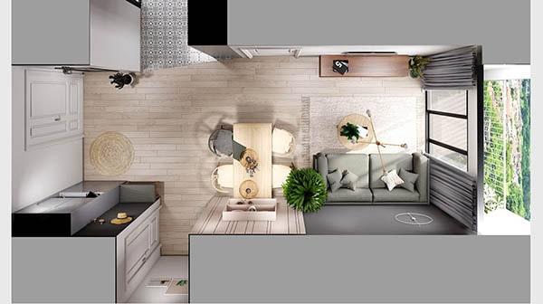 Combo phòng khách kết hợp phòng ăn (Hình ảnh và mẹo thiết kế) 20