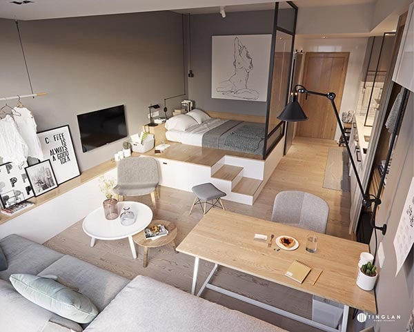 Combo phòng khách kết hợp phòng ăn (Hình ảnh và mẹo thiết kế) 21