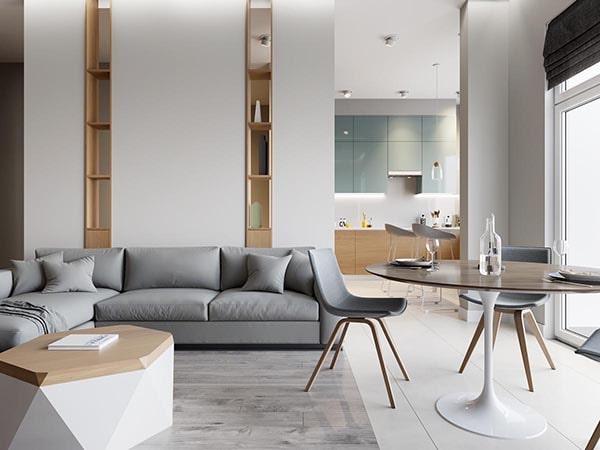Combo phòng khách kết hợp phòng ăn (Hình ảnh và mẹo thiết kế) 24