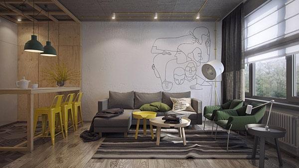 Combo phòng khách kết hợp phòng ăn (Hình ảnh và mẹo thiết kế) 26