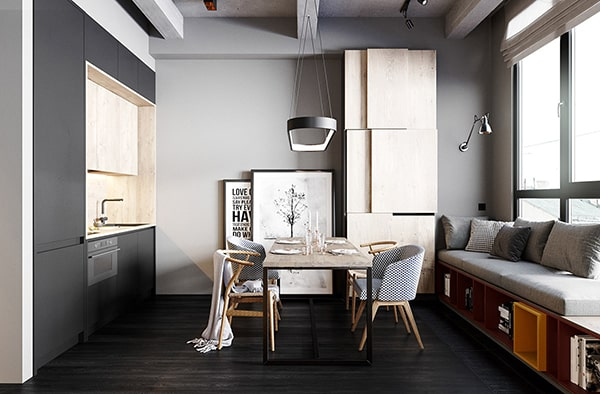 Combo phòng khách kết hợp phòng ăn (Hình ảnh và mẹo thiết kế) 27
