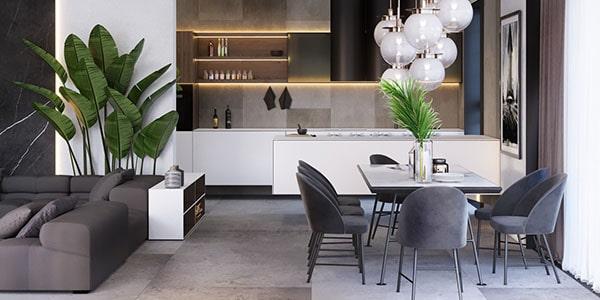 Combo phòng khách kết hợp phòng ăn (Hình ảnh và mẹo thiết kế) 1