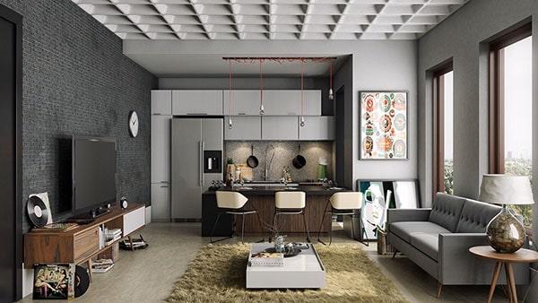 Combo phòng khách kết hợp phòng ăn (Hình ảnh và mẹo thiết kế) 2