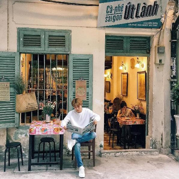 decor quán cafe theo phong cách Retro
