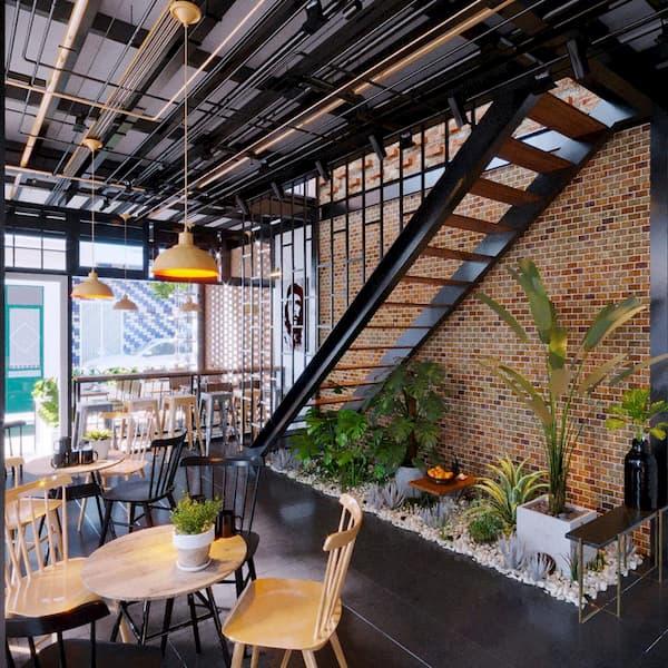 Xu hướng thiết kế quán cafe công nghiệp giá rẻ