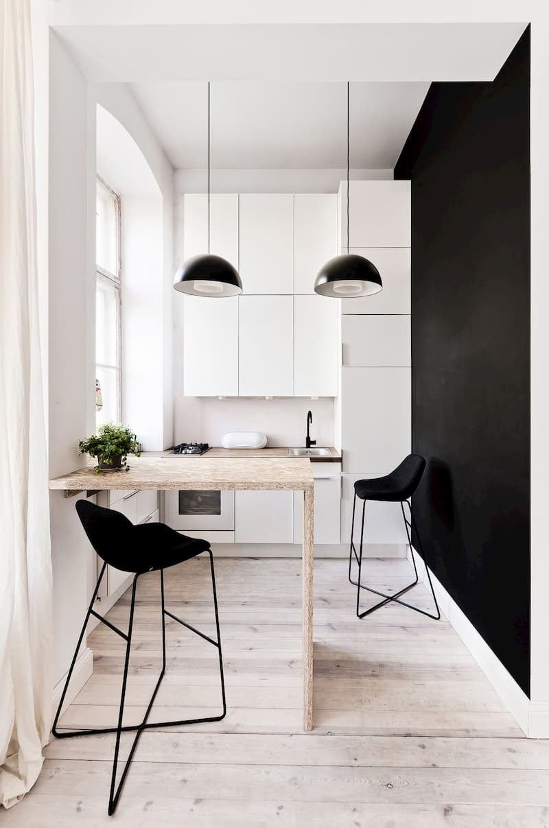 50 Mẫu nhà bếp nhỏ đẹp dành cho nhà ống, căn hộ chung cư 10