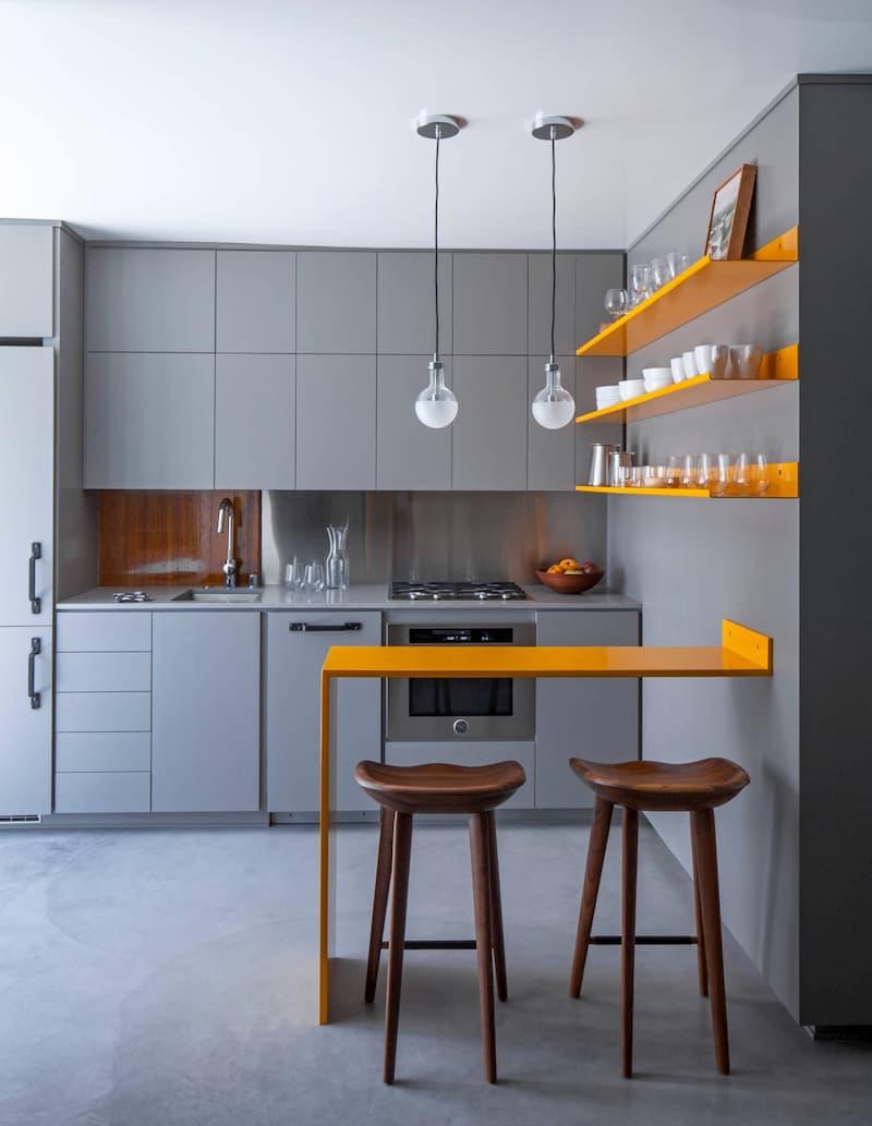 50 Mẫu nhà bếp nhỏ đẹp dành cho nhà ống, căn hộ chung cư 11
