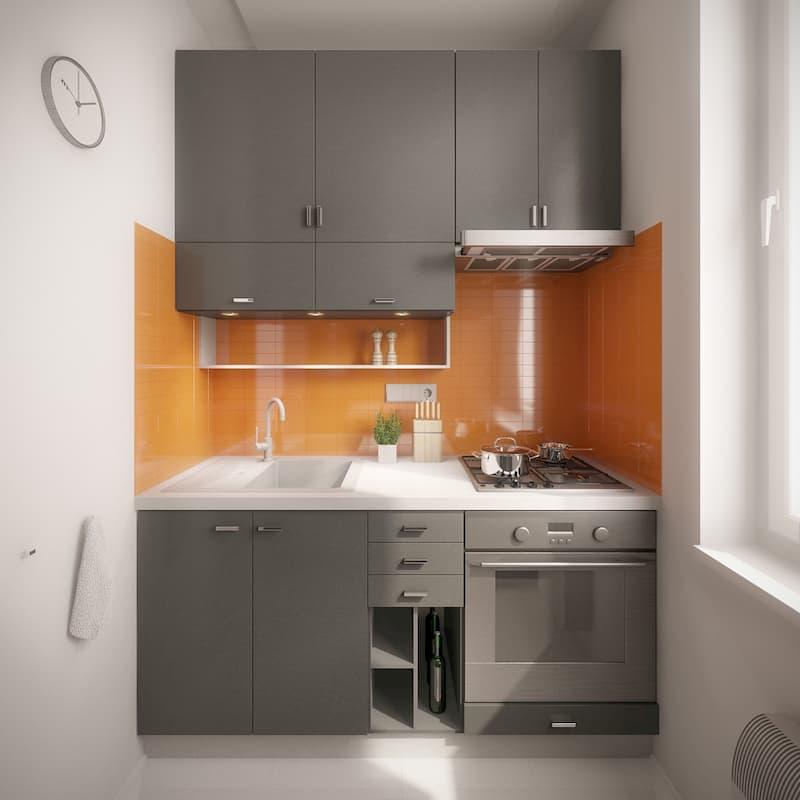 50 Mẫu nhà bếp nhỏ đẹp dành cho nhà ống, căn hộ chung cư 13