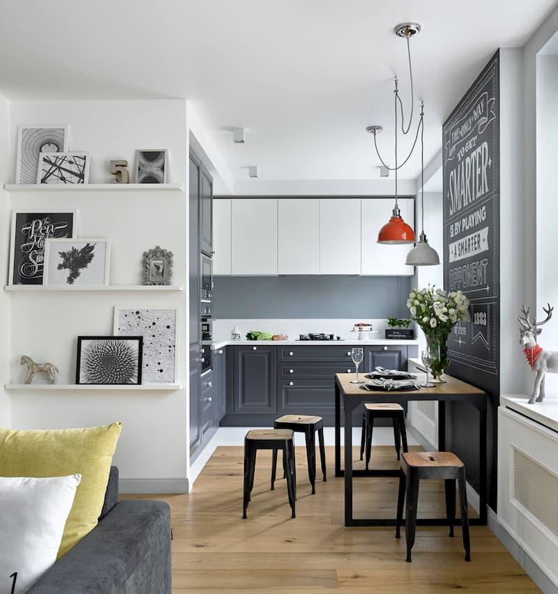 50 Mẫu nhà bếp nhỏ đẹp dành cho nhà ống, căn hộ chung cư 14