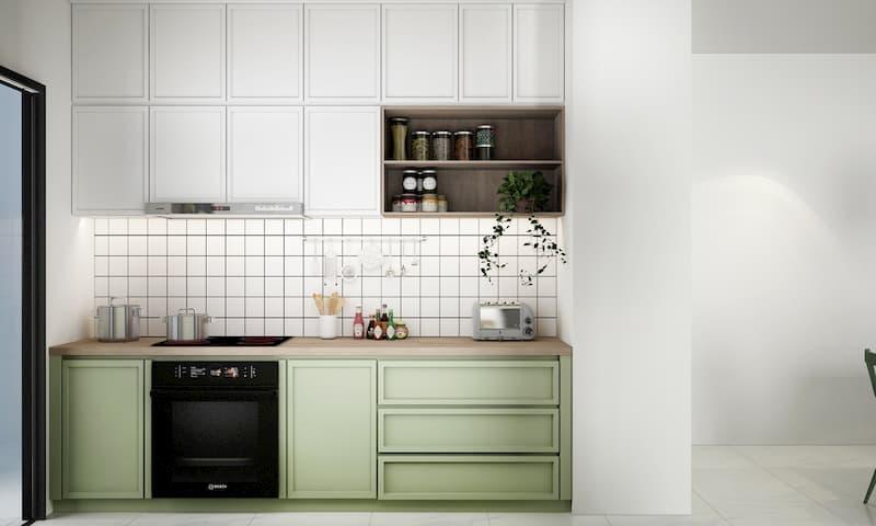 50 Mẫu nhà bếp nhỏ đẹp dành cho nhà ống, căn hộ chung cư 15