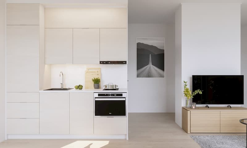 50 Mẫu nhà bếp nhỏ đẹp dành cho nhà ống, căn hộ chung cư 16