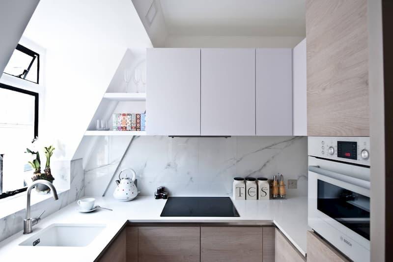 50 Mẫu nhà bếp nhỏ đẹp dành cho nhà ống, căn hộ chung cư 17