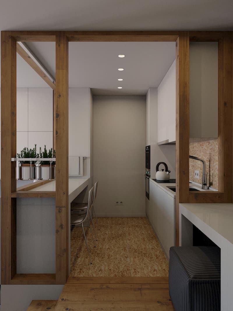 50 Mẫu nhà bếp nhỏ đẹp dành cho nhà ống, căn hộ chung cư 18
