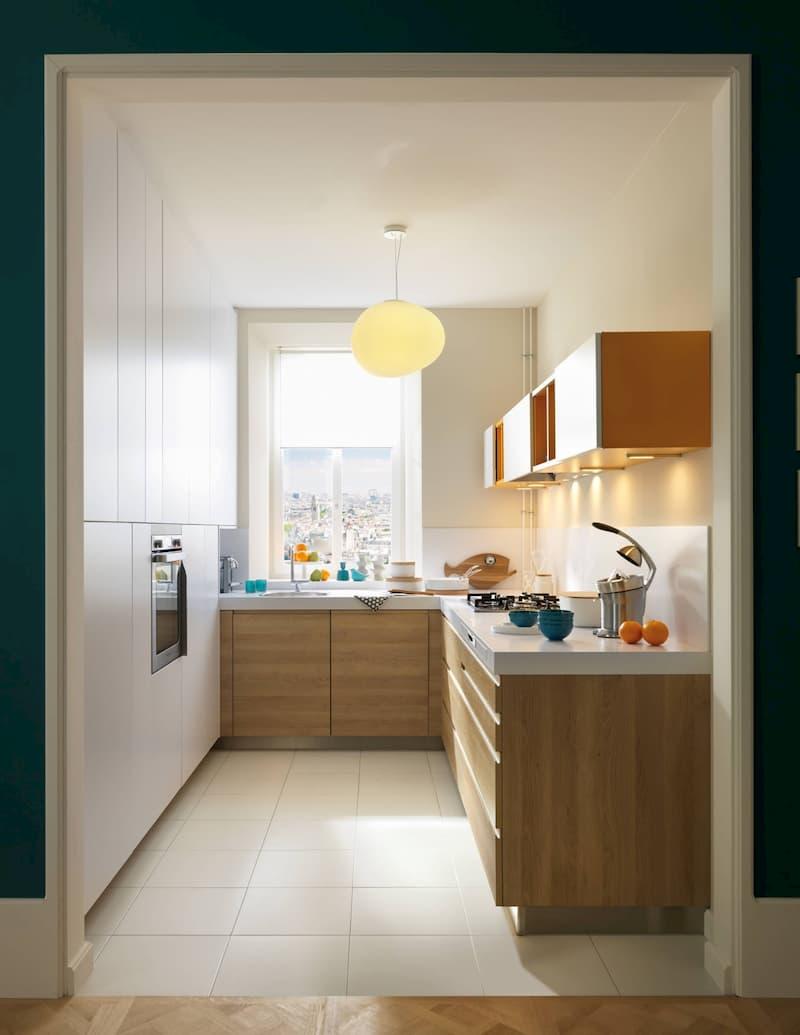 50 Mẫu nhà bếp nhỏ đẹp dành cho nhà ống, căn hộ chung cư 19