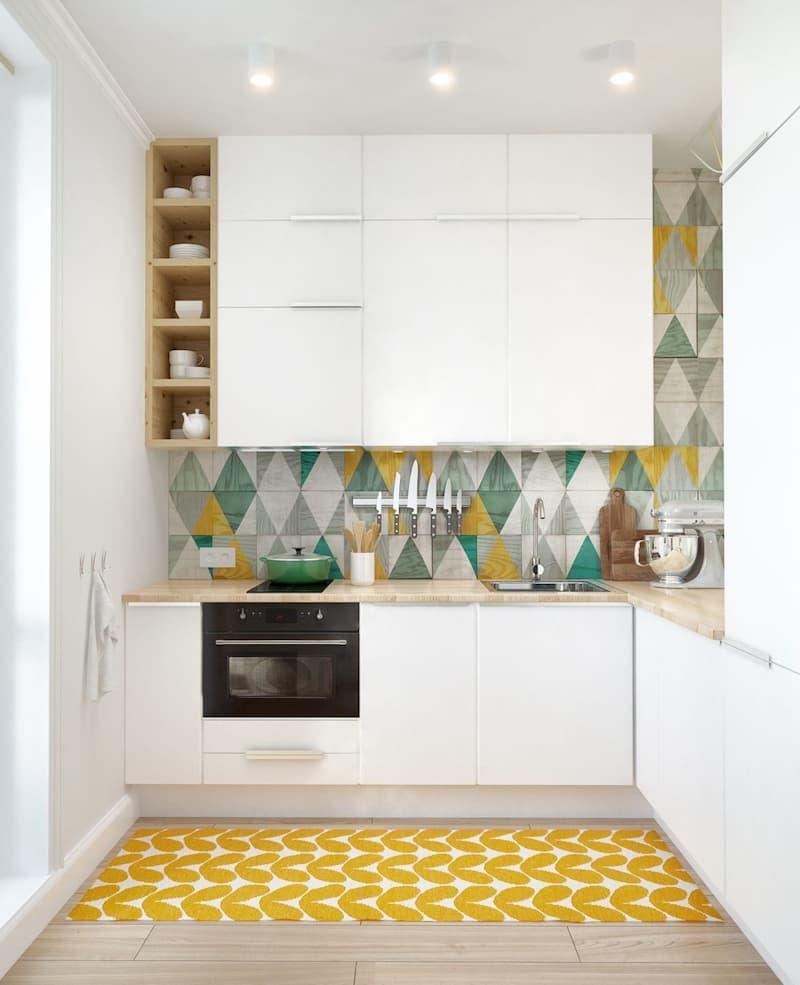 50 Mẫu nhà bếp nhỏ đẹp dành cho nhà ống, căn hộ chung cư 2