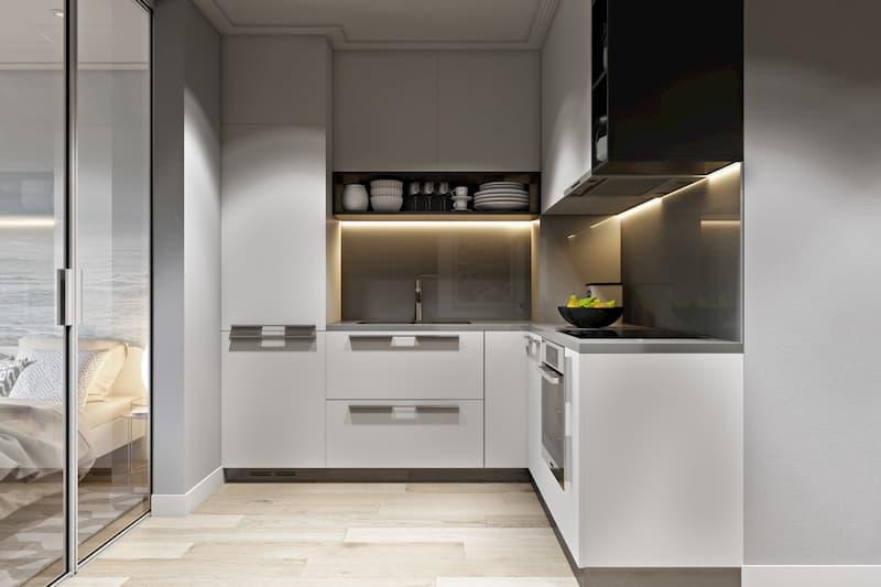 50 Mẫu nhà bếp nhỏ đẹp dành cho nhà ống, căn hộ chung cư 20
