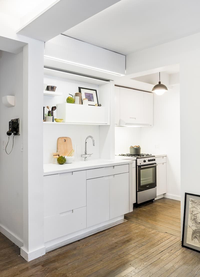 50 Mẫu nhà bếp nhỏ đẹp dành cho nhà ống, căn hộ chung cư 22