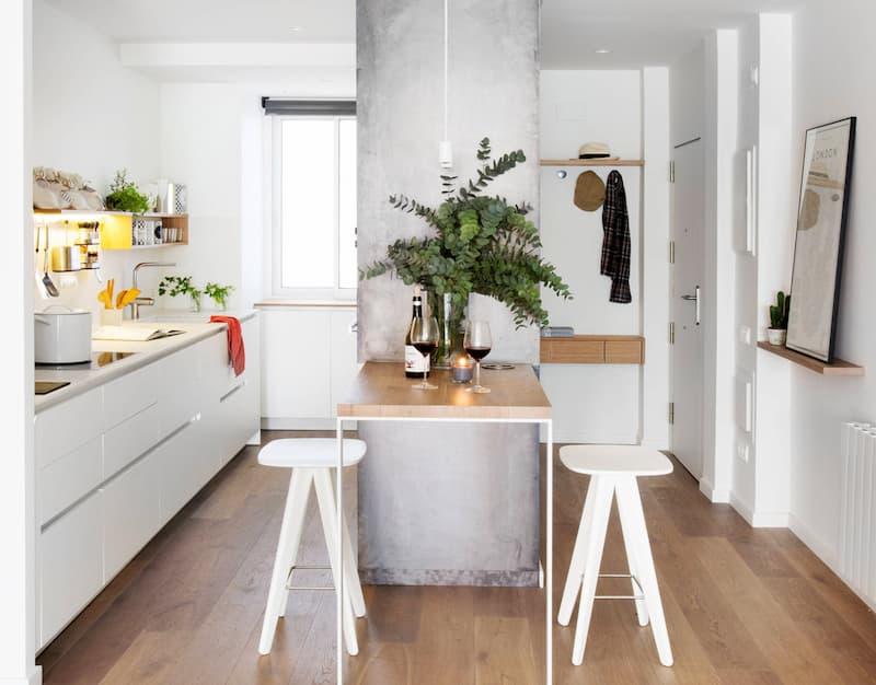 50 Mẫu nhà bếp nhỏ đẹp dành cho nhà ống, căn hộ chung cư 23