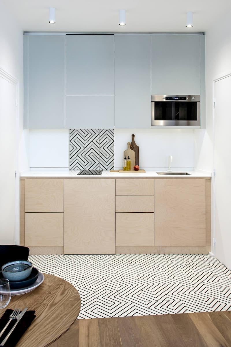 50 Mẫu nhà bếp nhỏ đẹp dành cho nhà ống, căn hộ chung cư 27