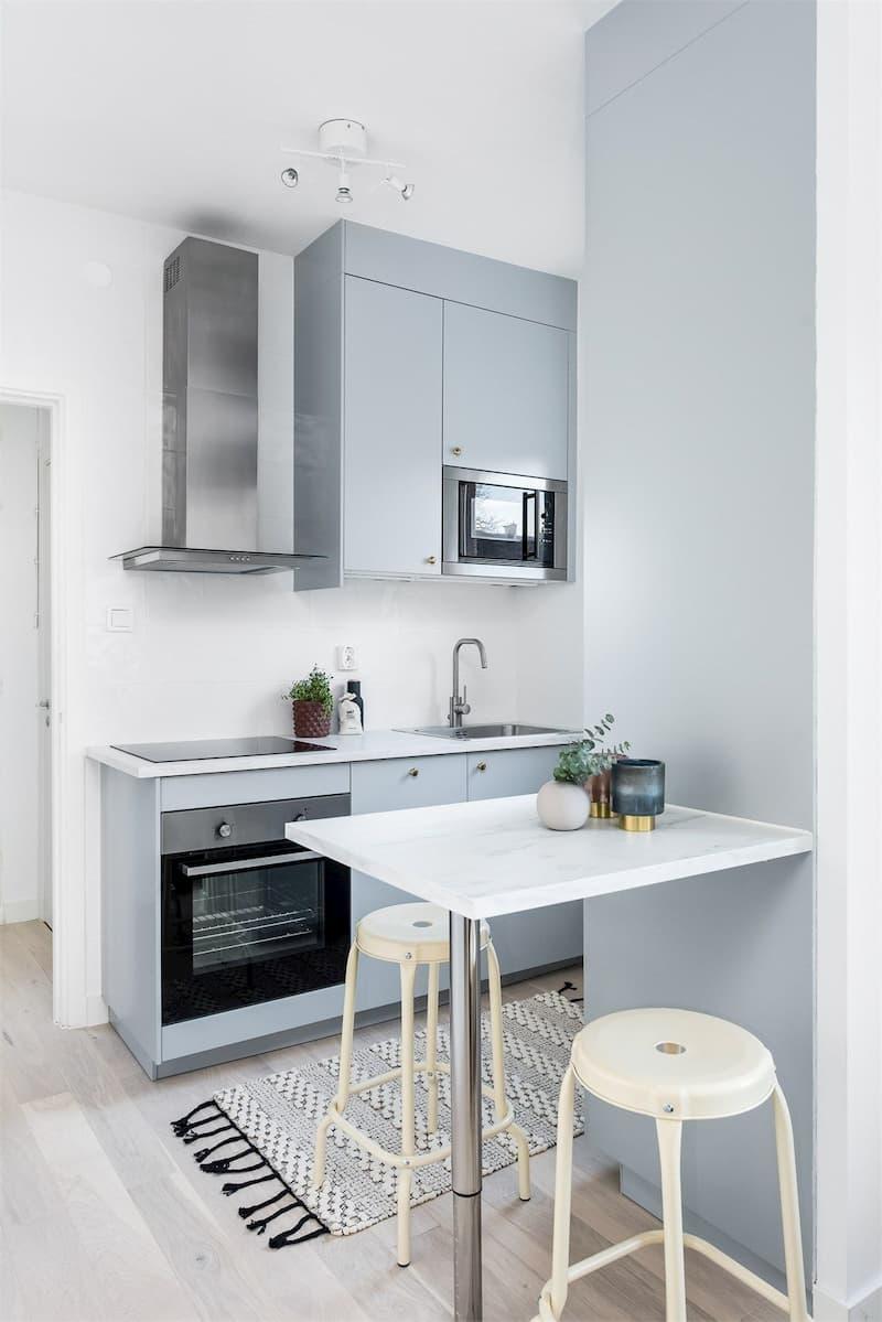 50 Mẫu nhà bếp nhỏ đẹp dành cho nhà ống, căn hộ chung cư 28