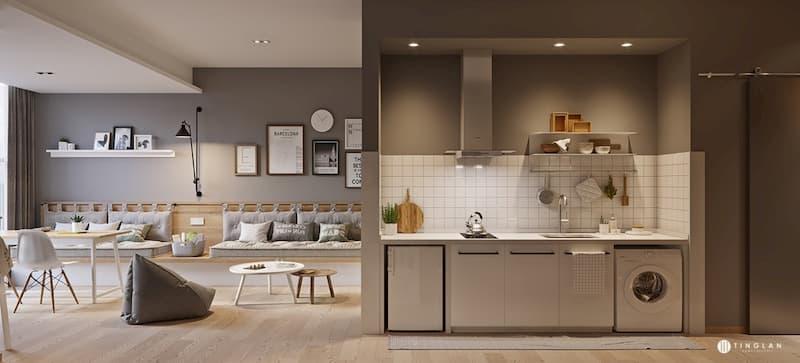 50 Mẫu nhà bếp nhỏ đẹp dành cho nhà ống, căn hộ chung cư 3