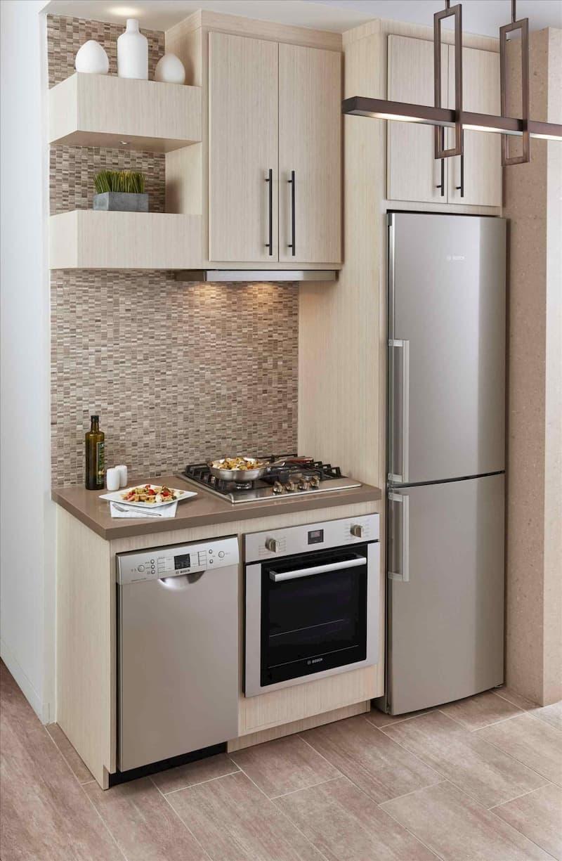 50 Mẫu nhà bếp nhỏ đẹp dành cho nhà ống, căn hộ chung cư 29