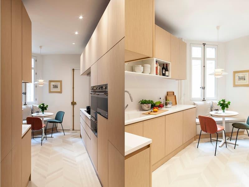 50 Mẫu nhà bếp nhỏ đẹp dành cho nhà ống, căn hộ chung cư 31